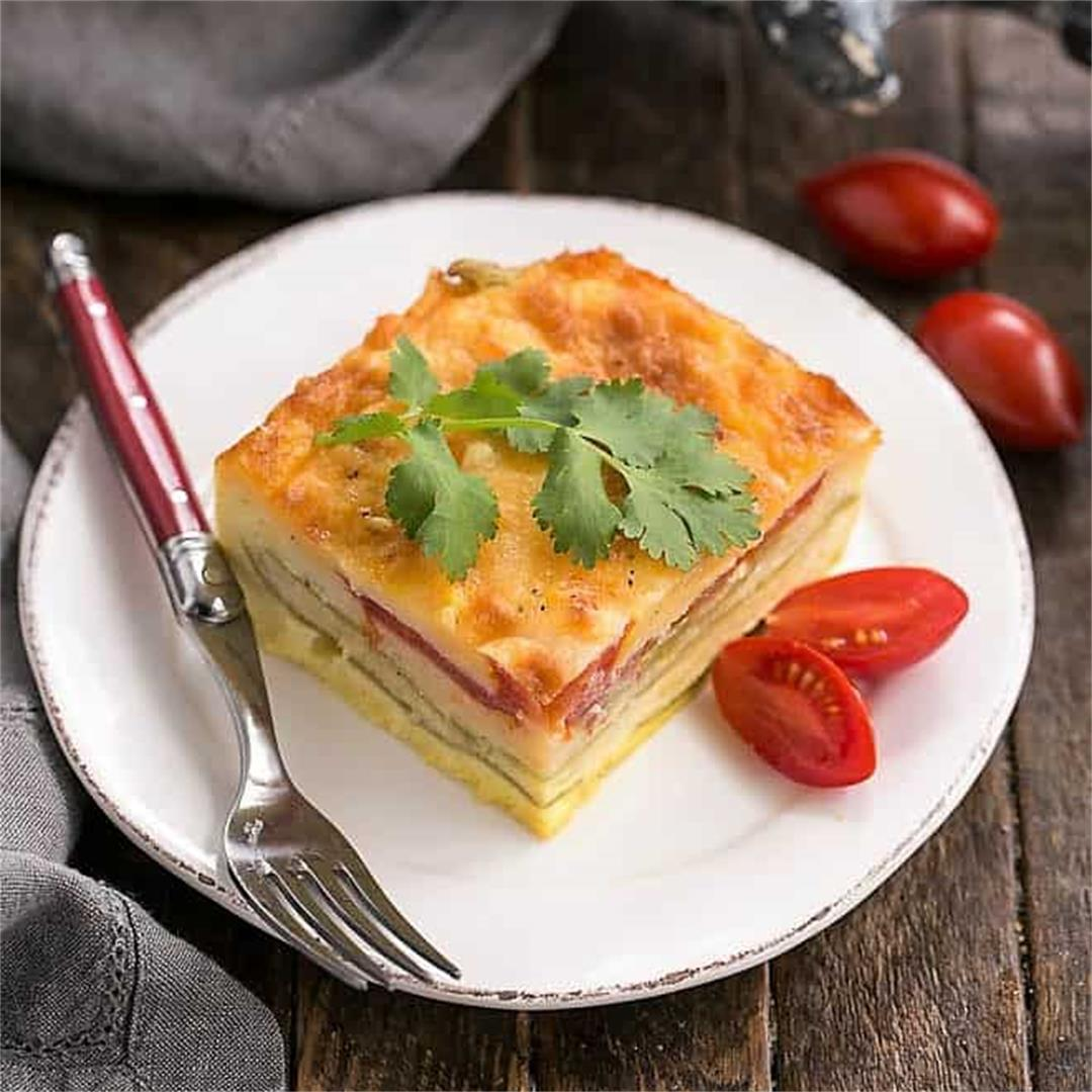 Cheesy Chili Relleno Casserole