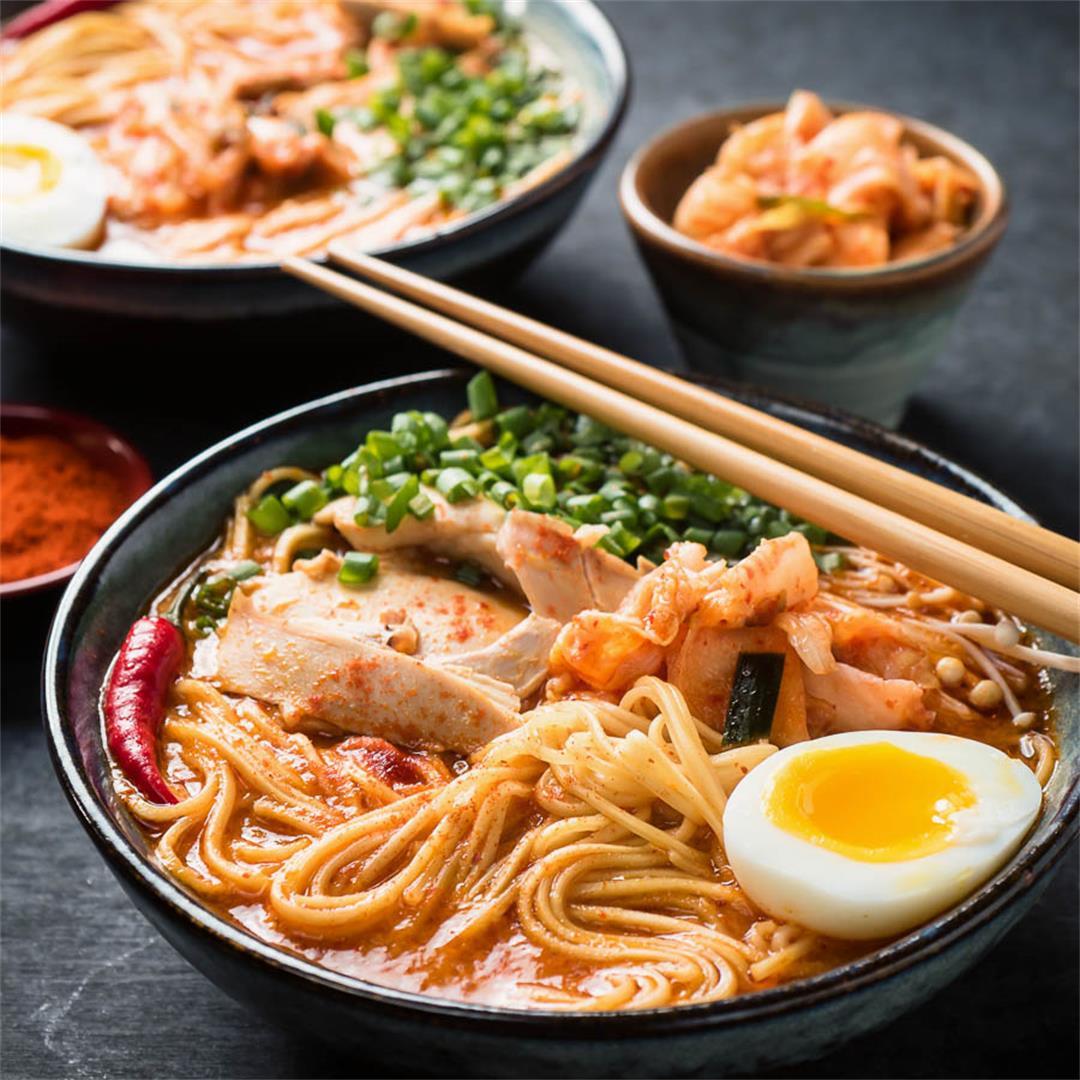 korean ramen - spicy and delicious