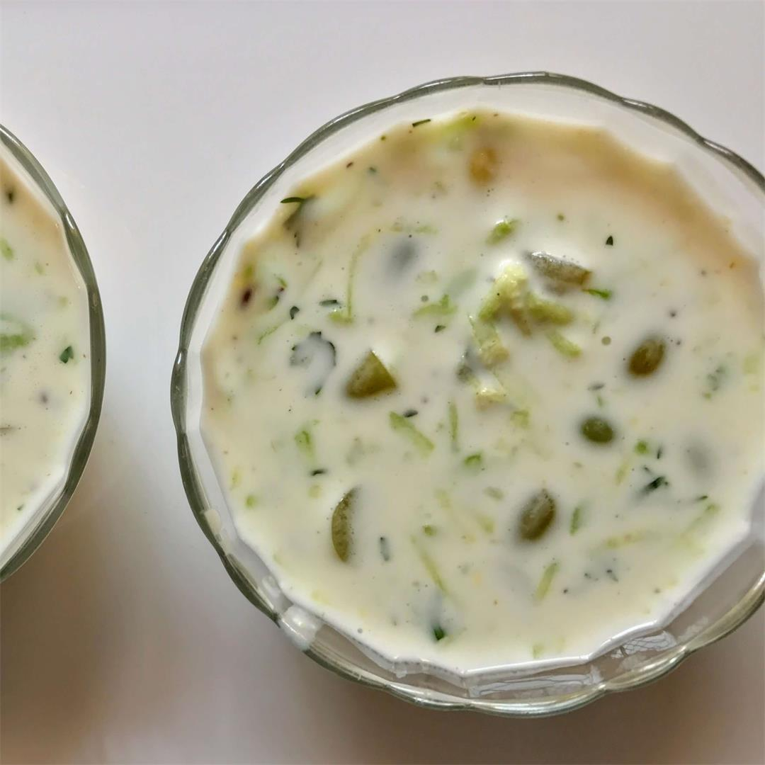 Grapes Cucumber Raita