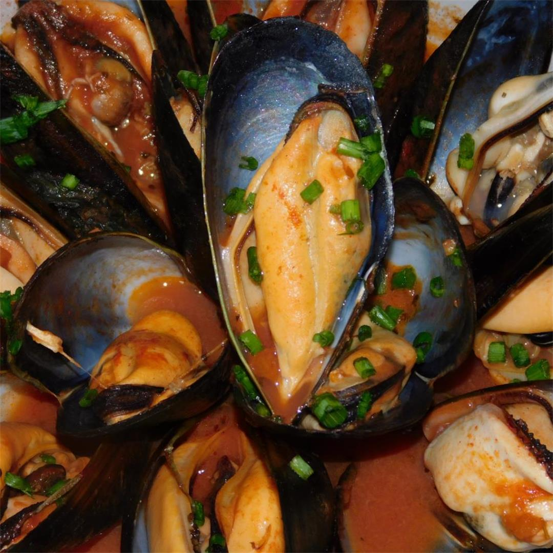 Mussels in a Spicy Napolitana Sauce