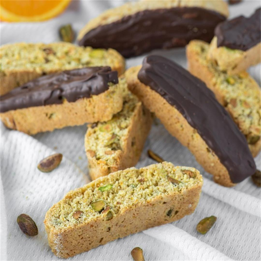 Orange Pistachio Biscotti Recipe
