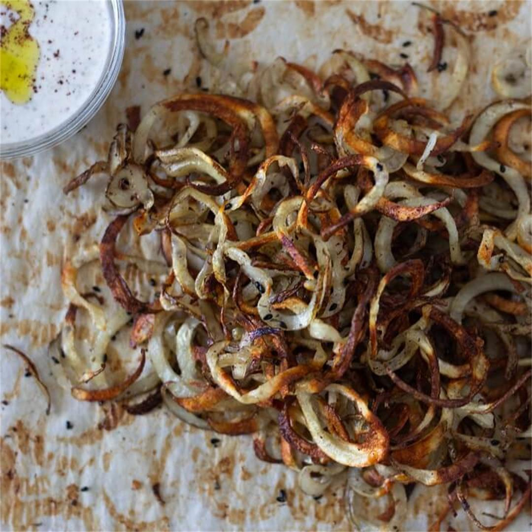Baked Curly Fries with Za'atar