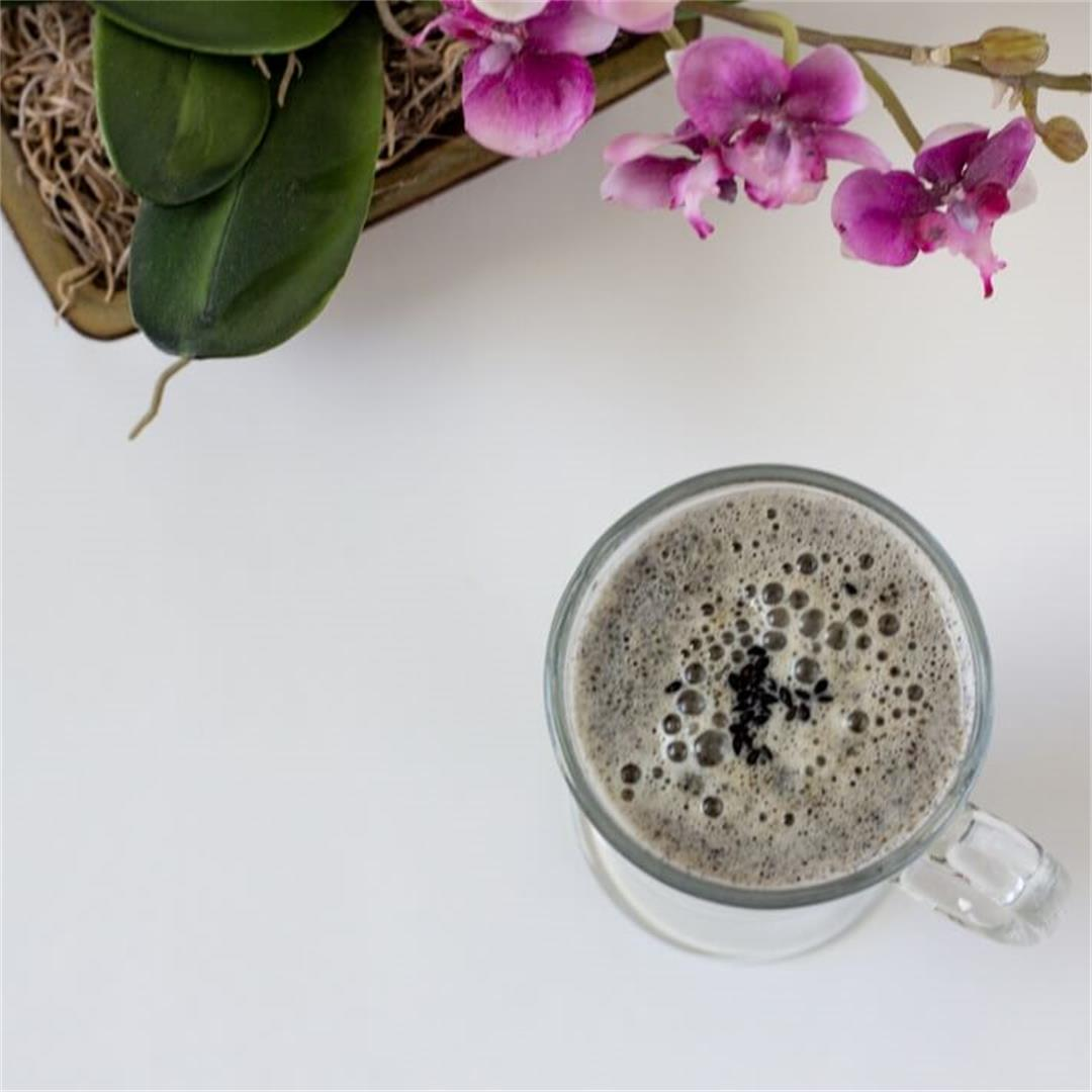 Toasted Black Sesame Latte