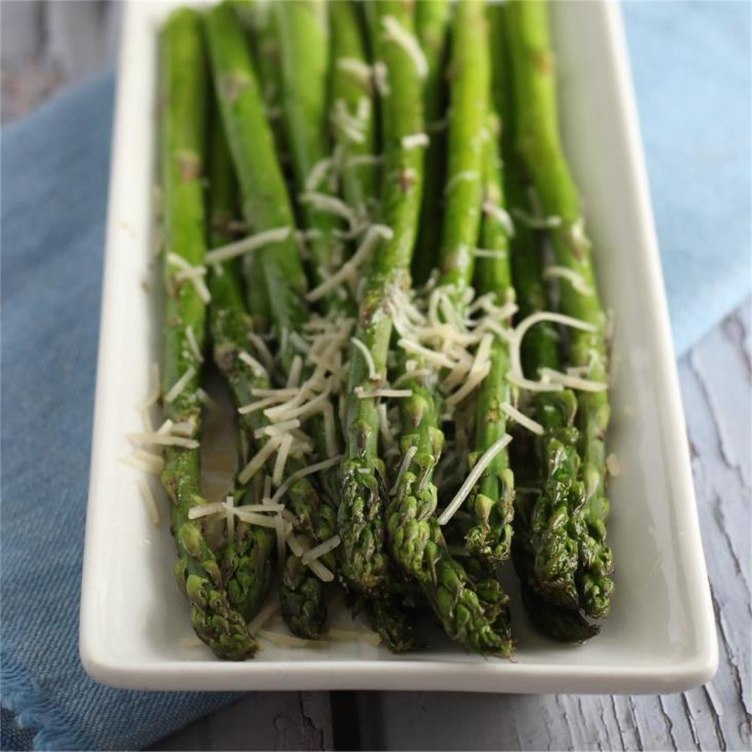 Oven broiled asparagus (low carb, keto, paleo, vegan)