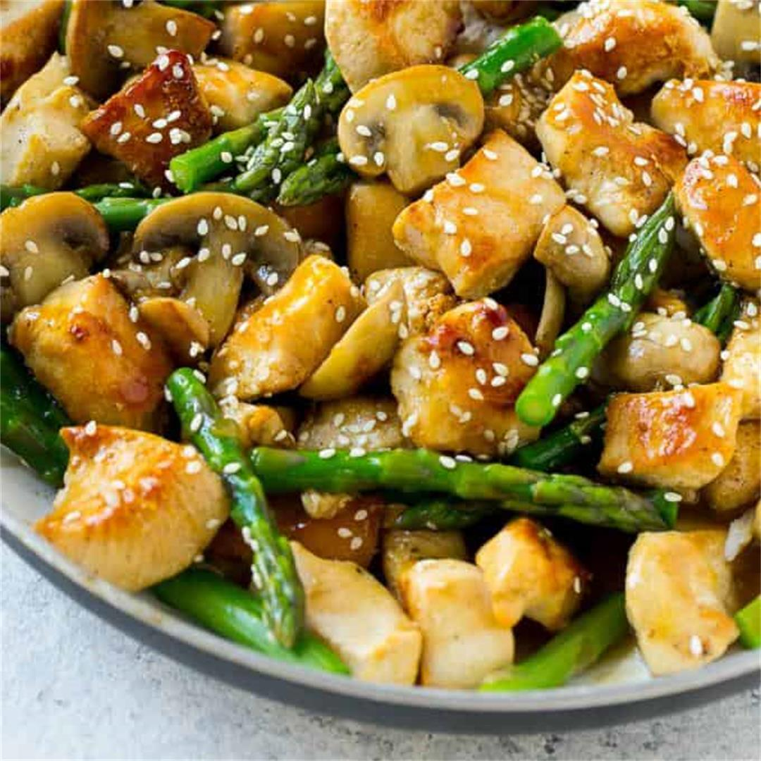 Easy Chicken Asparagus Stir Fry Recipe