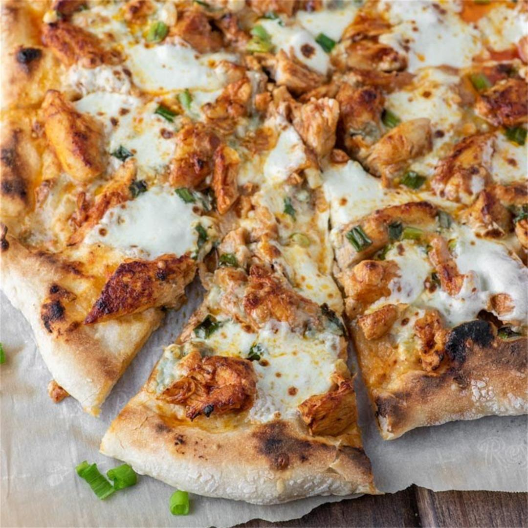 Homemade Buffalo Chicken Pizza
