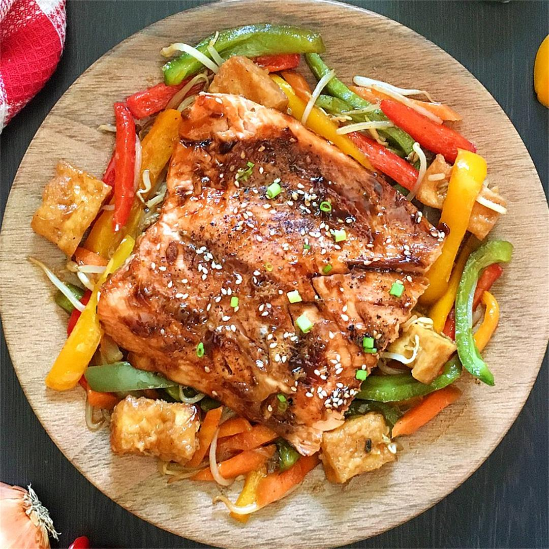 Easy Baked Salmon Teriyaki Sesame Recipe