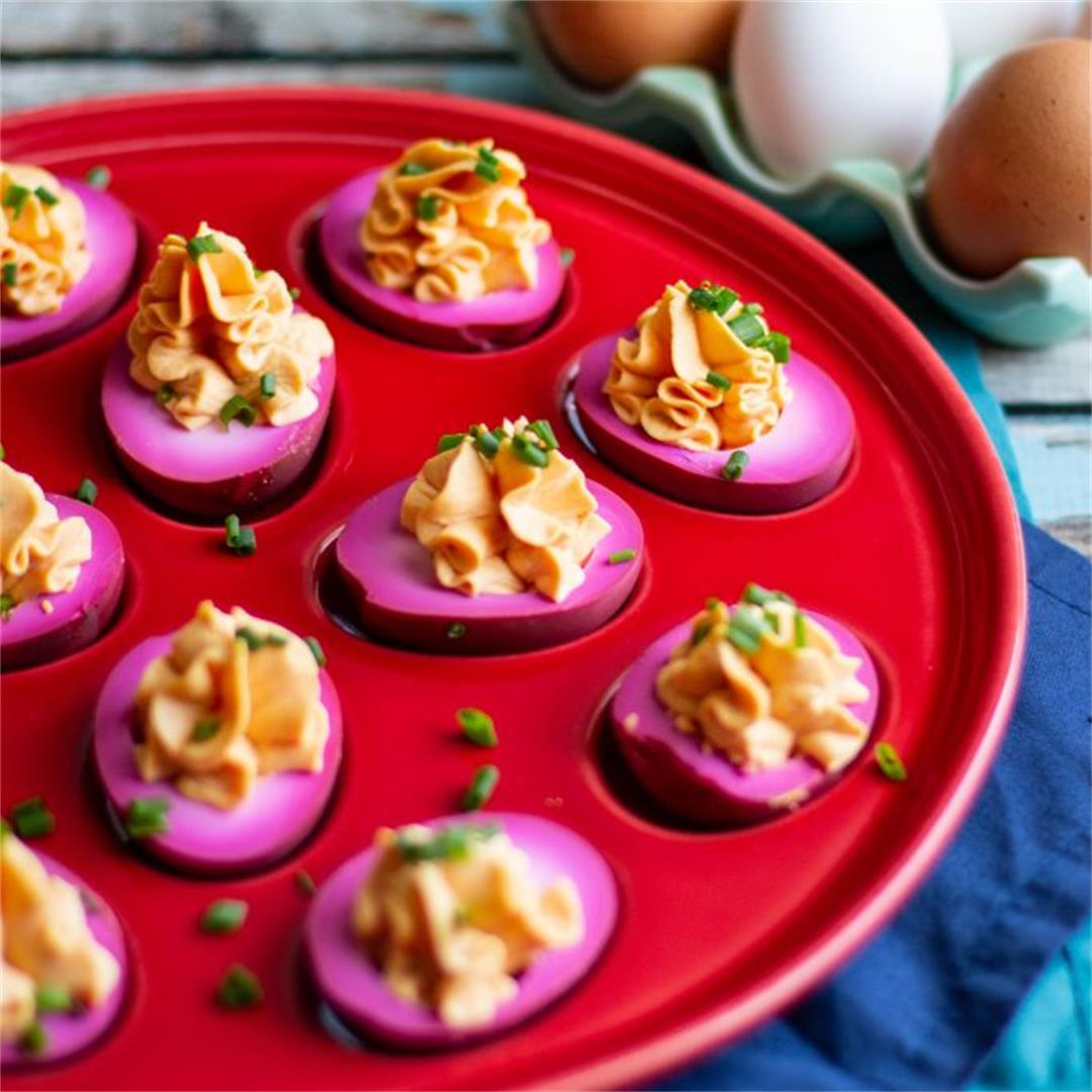 Delicious Pickled Deviled Eggs Recipe