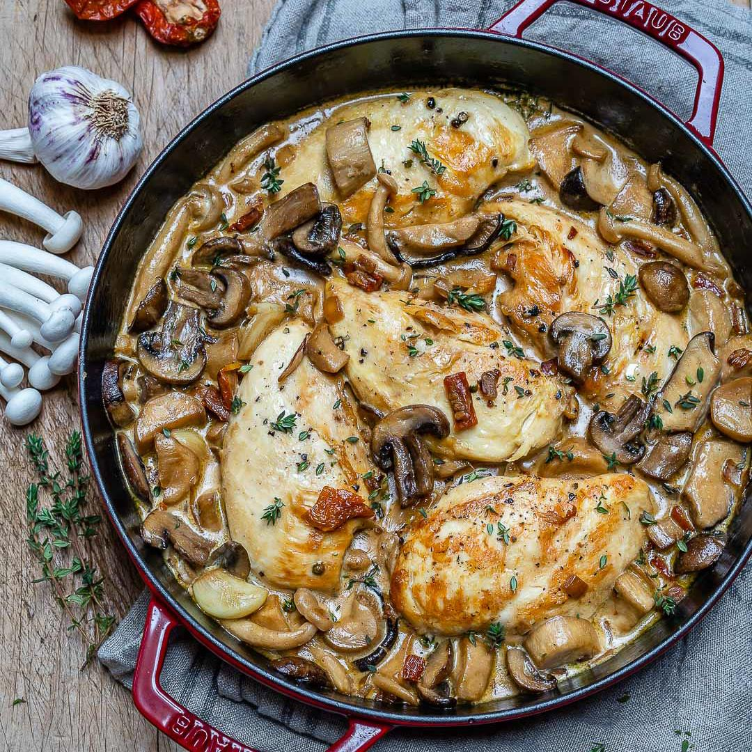 Easy Creamy Chicken Mushroom Recipe (Keto)