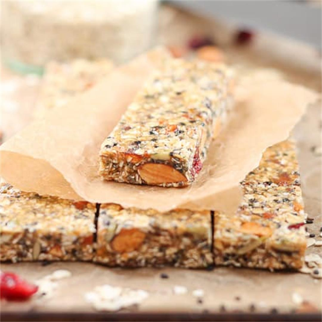 Healthy Fruit Nut Seed Bars