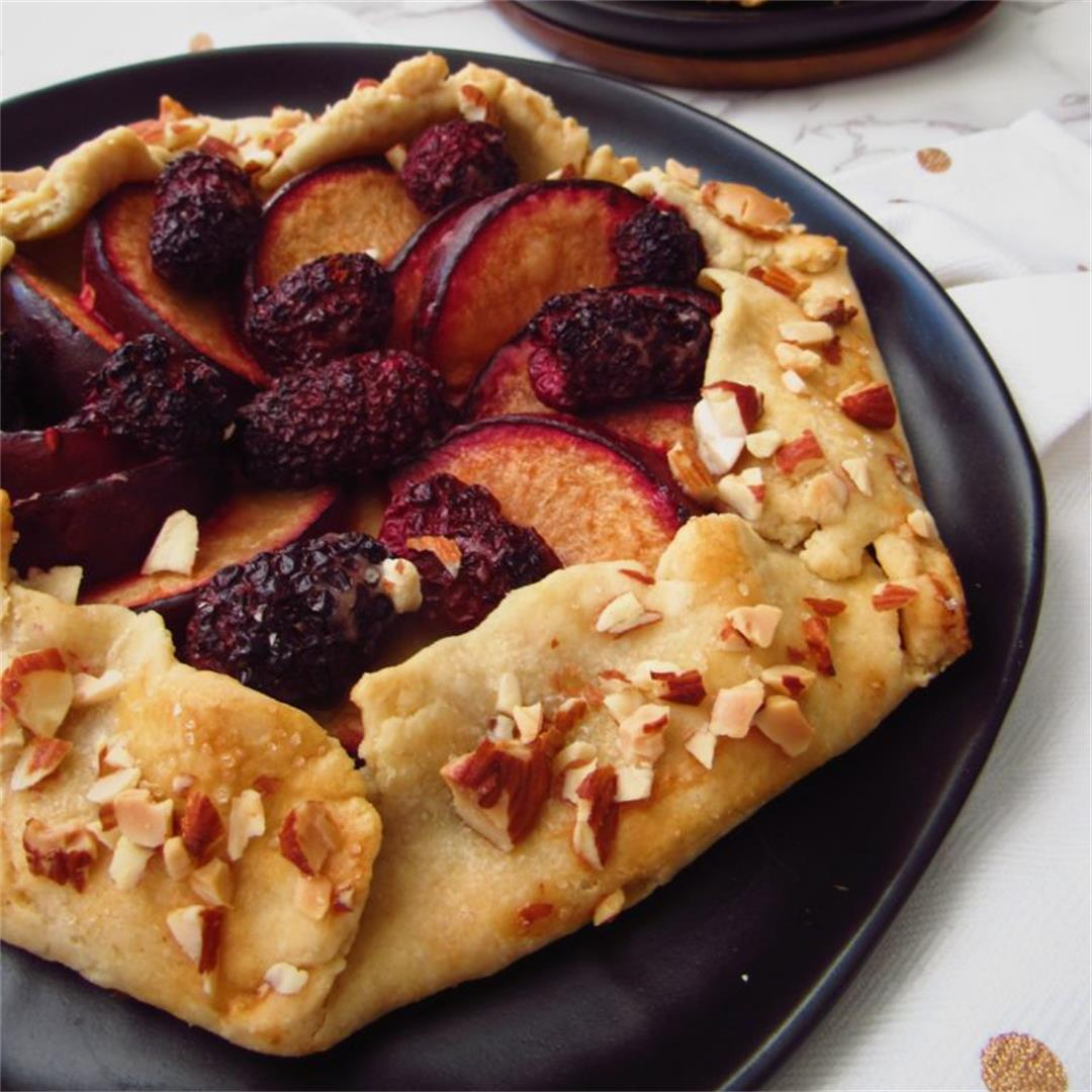 Plum & Blackberry Galette