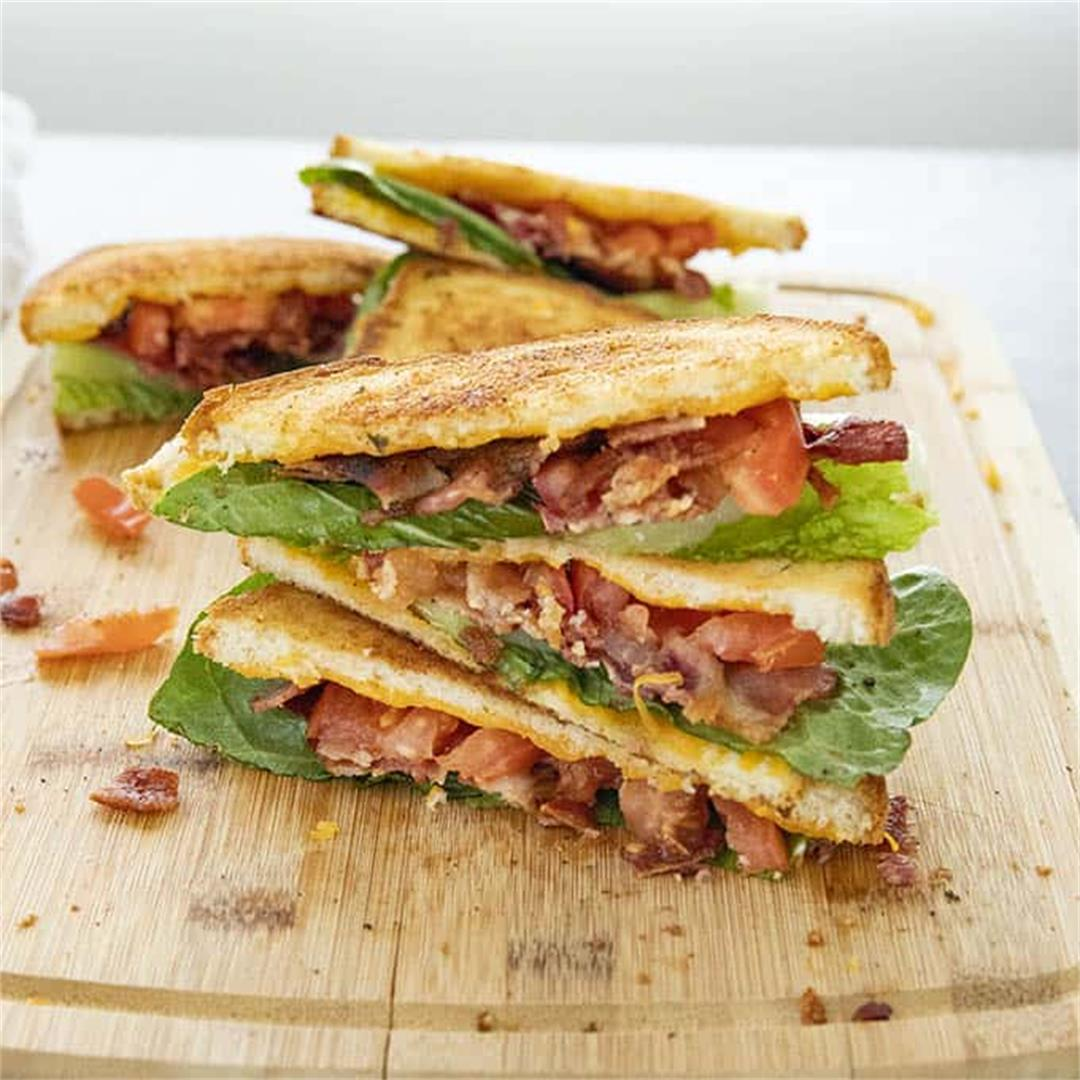 Cheesy Garlic Bread BLT