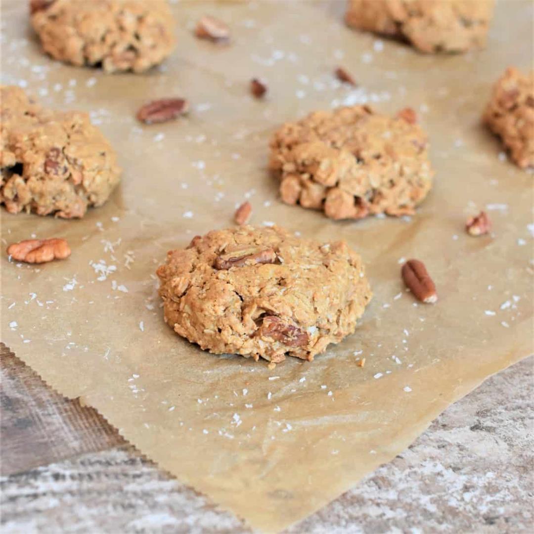 Oat Flour Cookies [Gluten-Free, Vegan, Refined Sugar-Free]