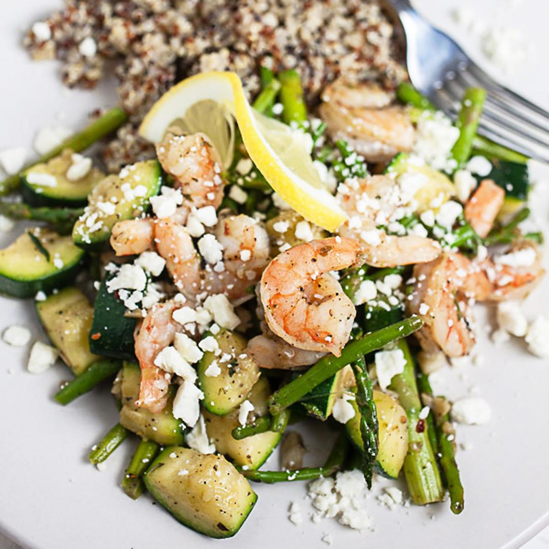 Skillet Shrimp and Spring Vegetables