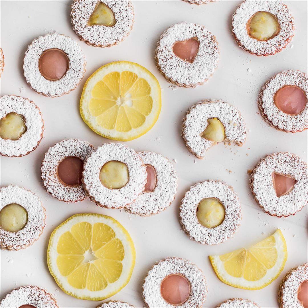 Vegan Linzer Cookies with Citrus Curd Filling