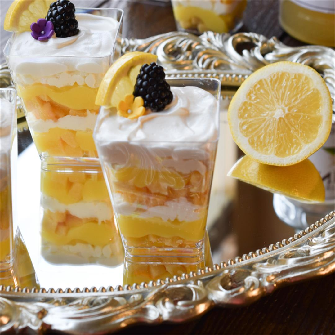 Elderflower and Lemon Mini Trifles