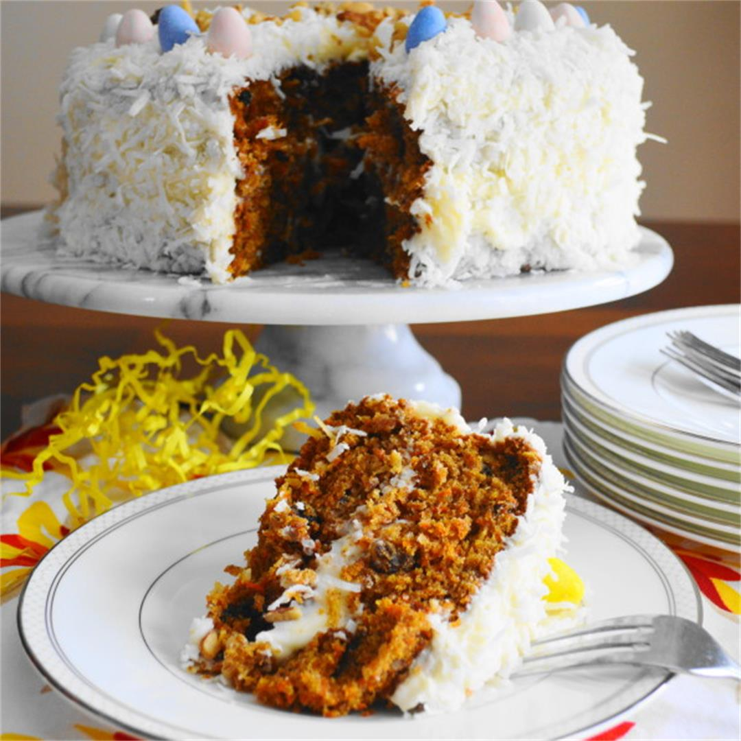 Coconut Carrot Easter Cake - Jeanie and Lulu's Kitchen