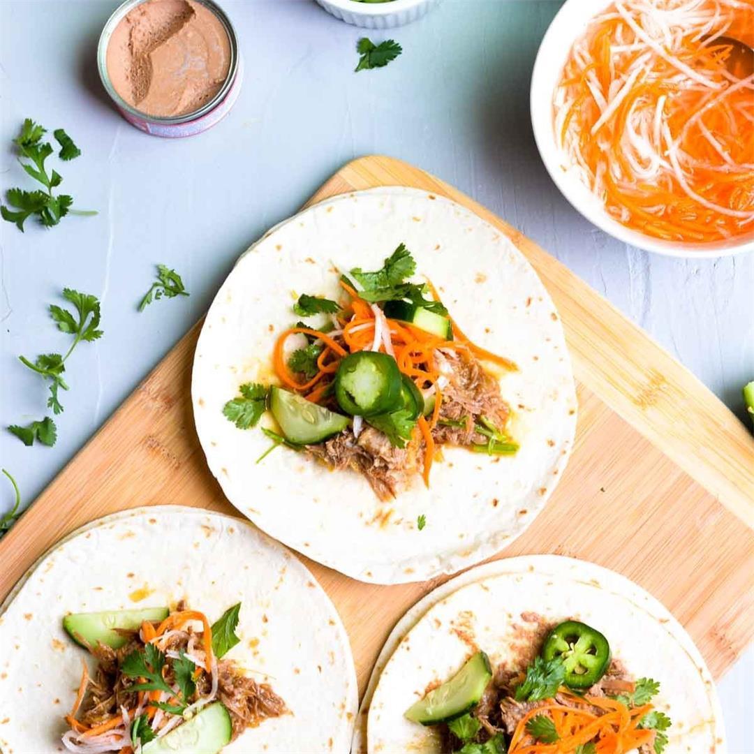 Instant Pot Vietnamese Banh Mi Tacos