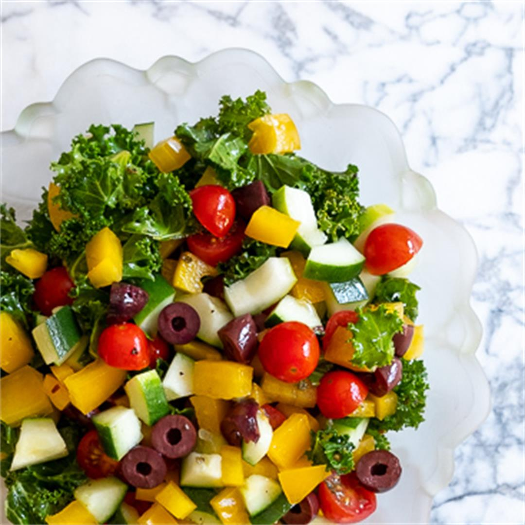 Kale Greek Salad
