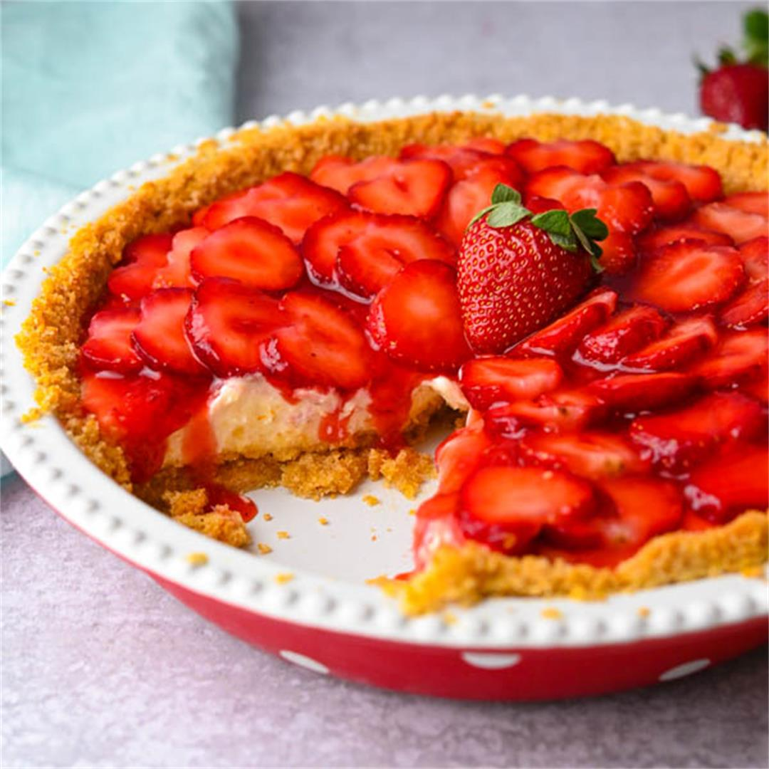 Strawberry Pie with Graham Cracker Crust