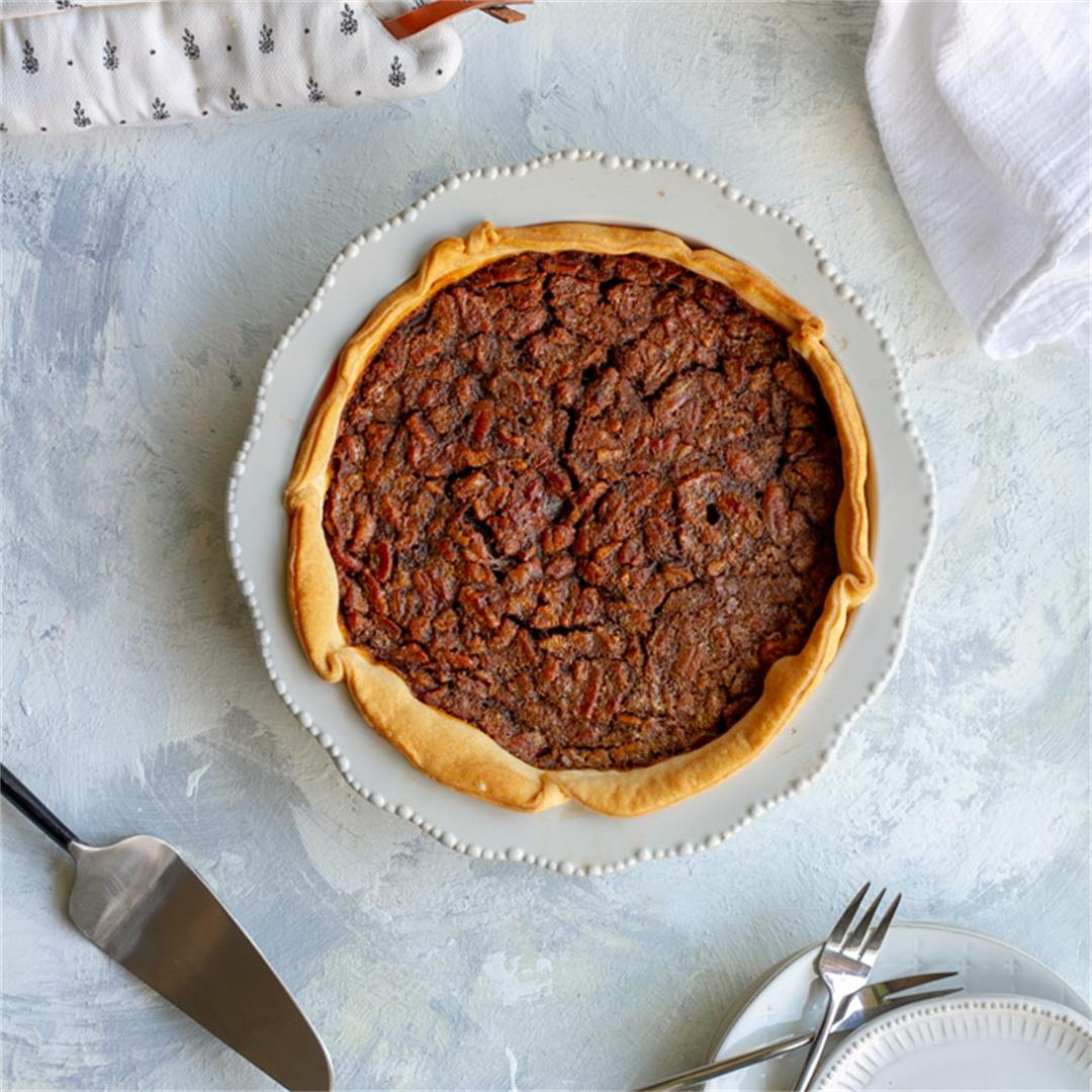 Bourbon Pecan Pie (without Corn Syrup!)