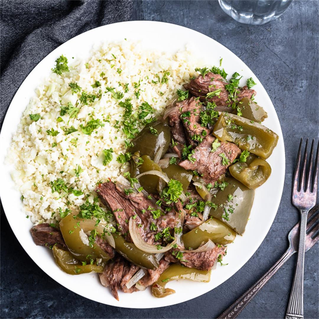 Slow Cooker Pepper Steak (Whole30)