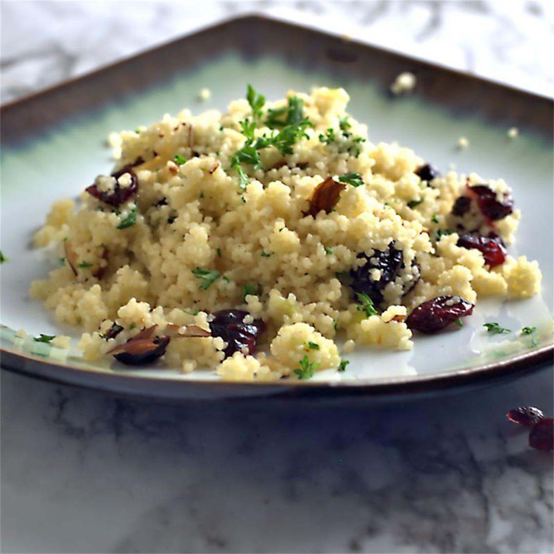 Couscous with Dried Cranberries and Almonds