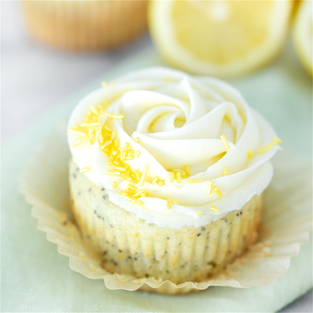 Lemon Poppy Seed Cupcake Recipe