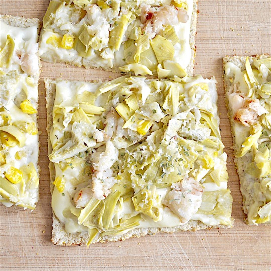 Low Carb Lobster Flatbread - Jeanie and Lulu's Kitchen
