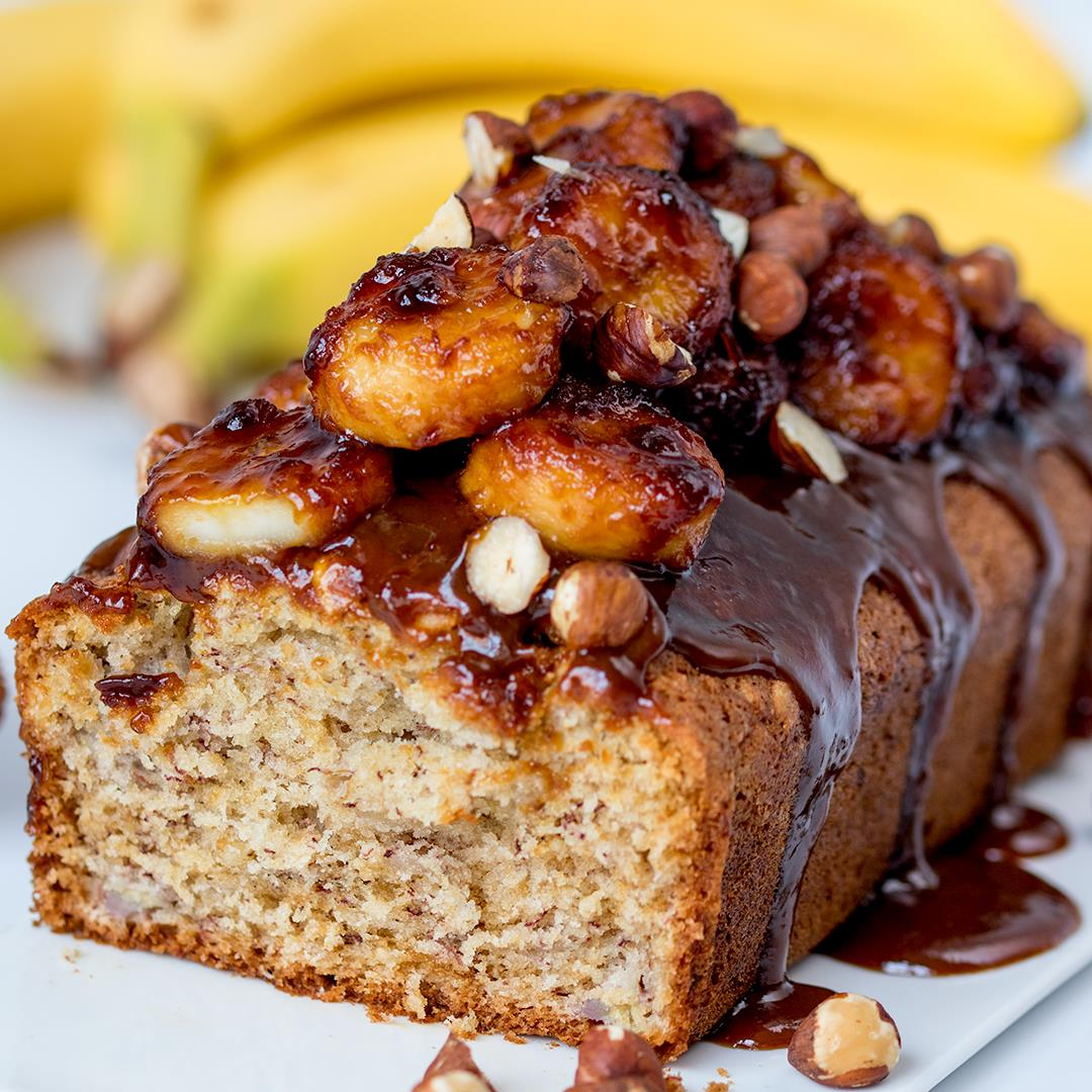 Banana Bread with Caramelized Bananas