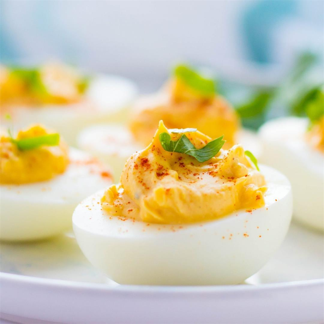 Southern Deviled Eggs with Relish
