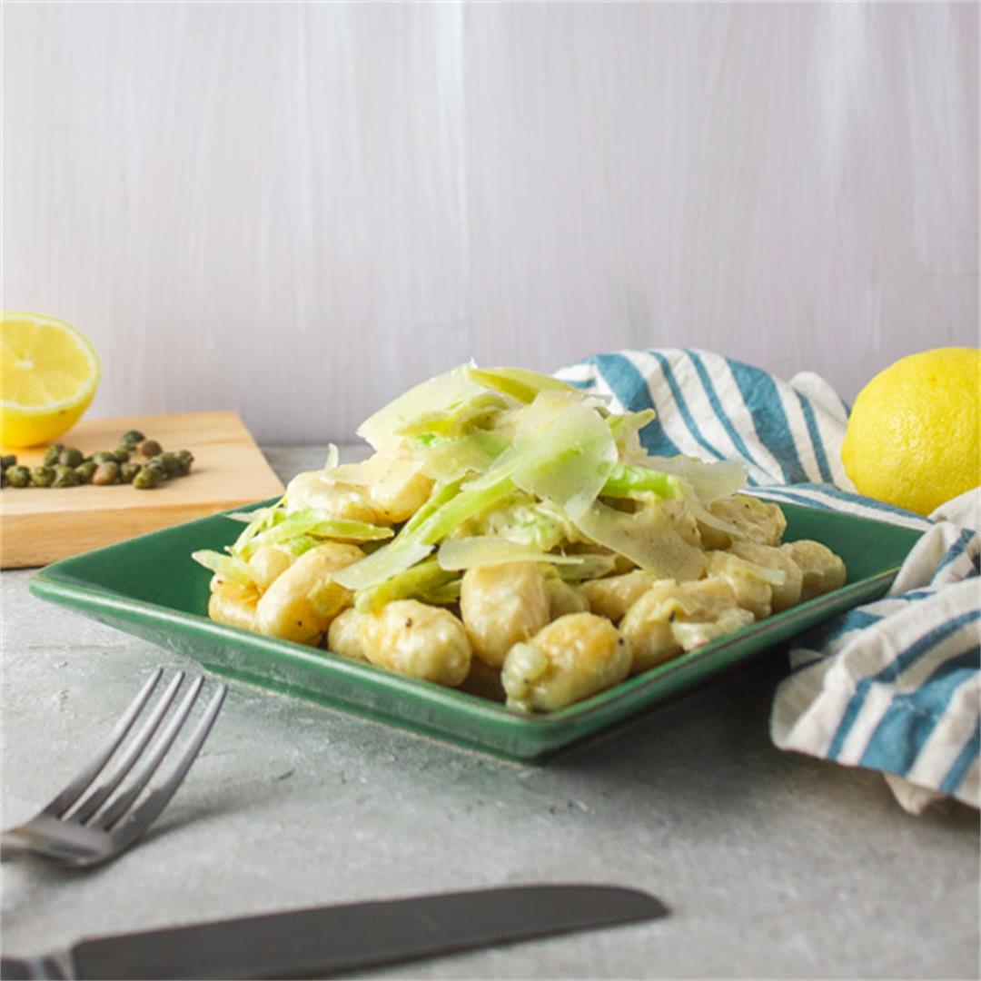 Homemade Gnocchi with Fennel Caper Cream Sauce