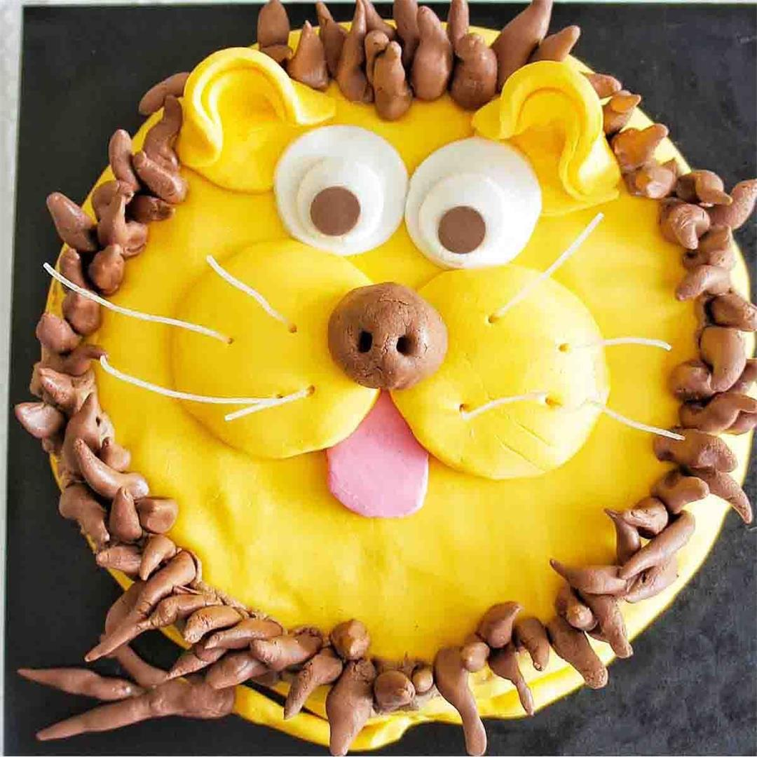 Lion Cake Recipe (VIDEO)