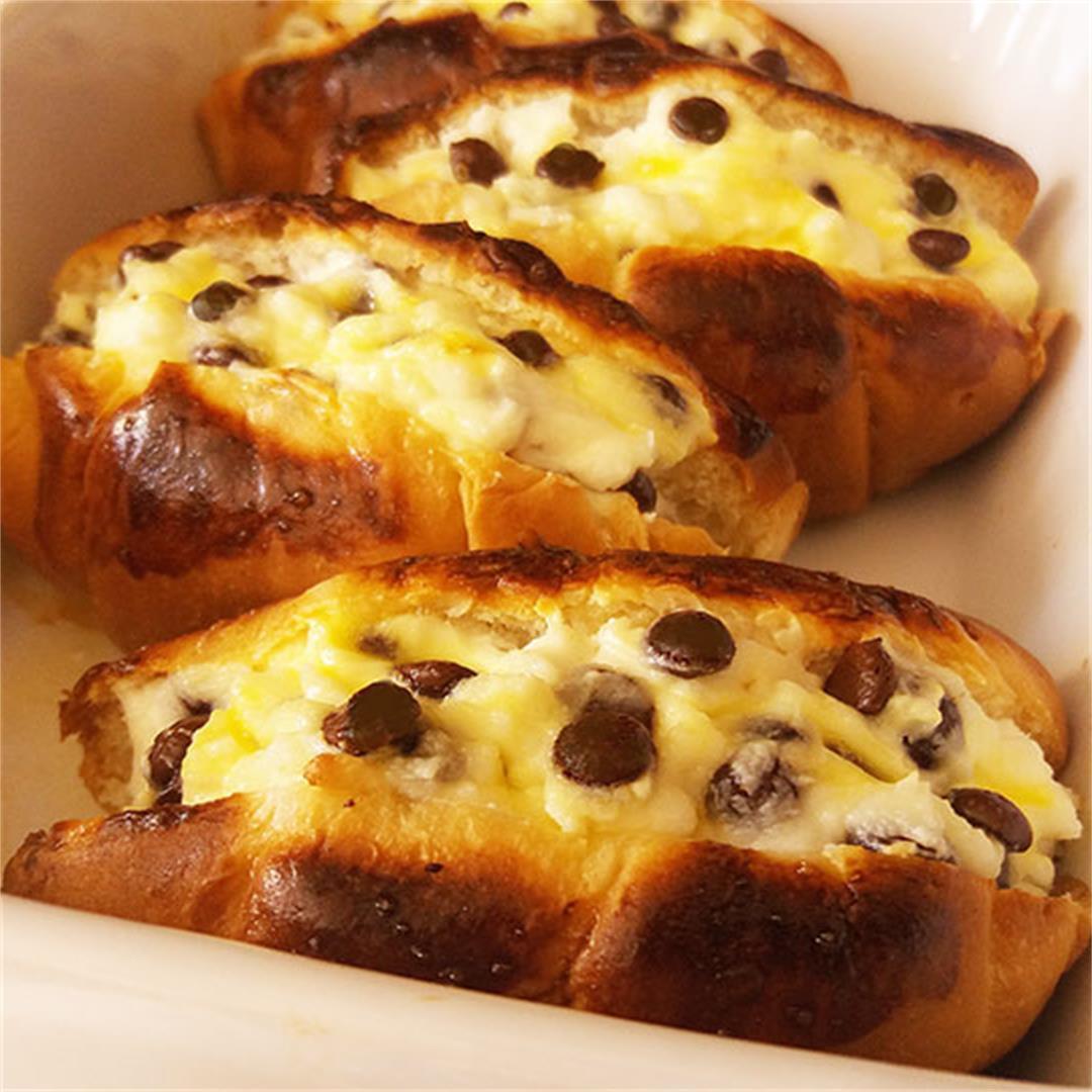 Cannoli Croissant Breakfast Bake Recipe