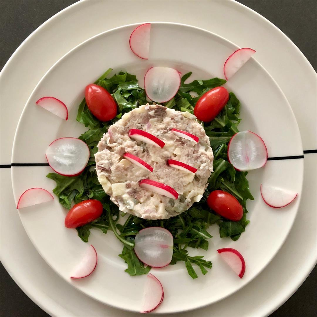 delicious summer smoked mackerel salad