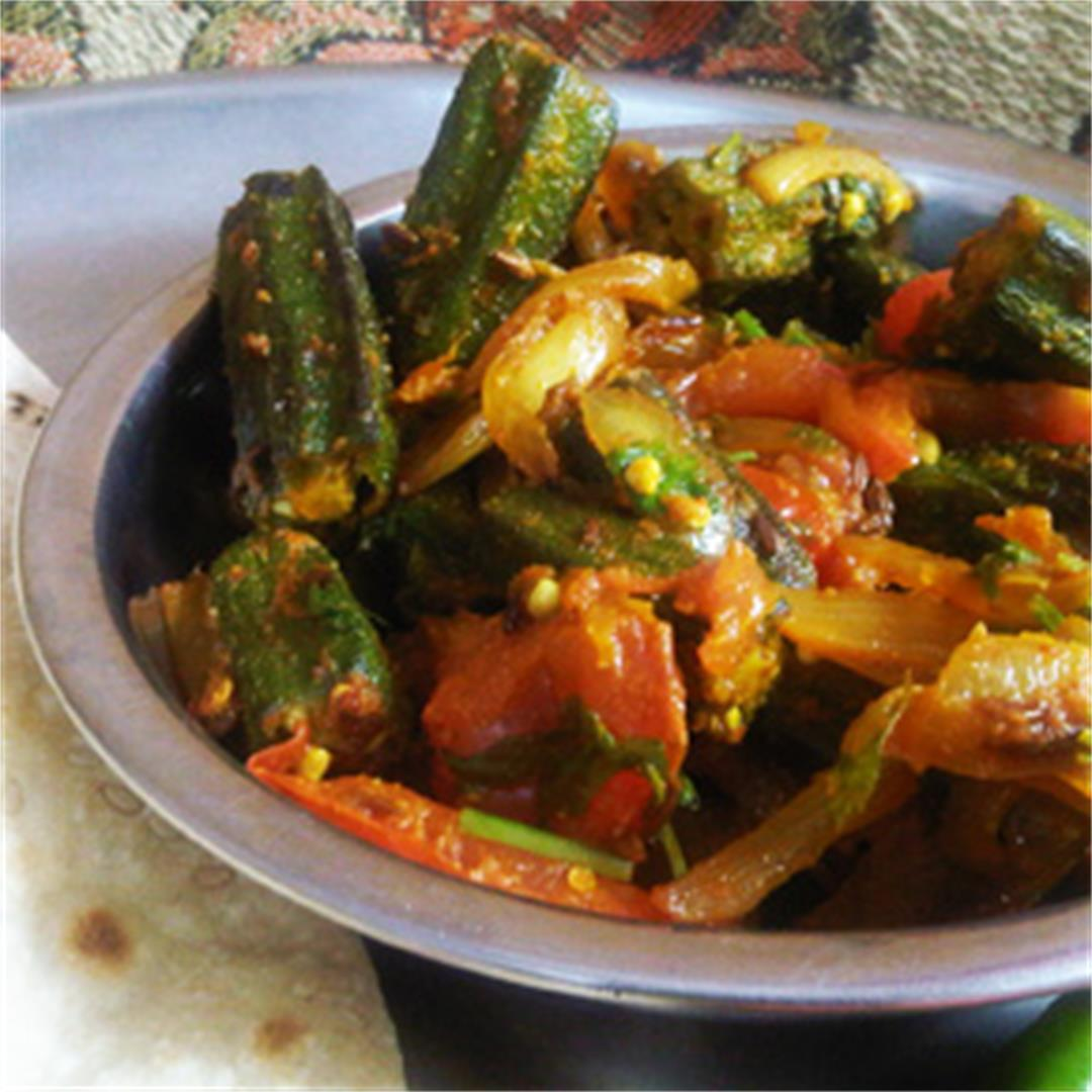 Bhindi Do Pyaza: Okra with Onions and Spices