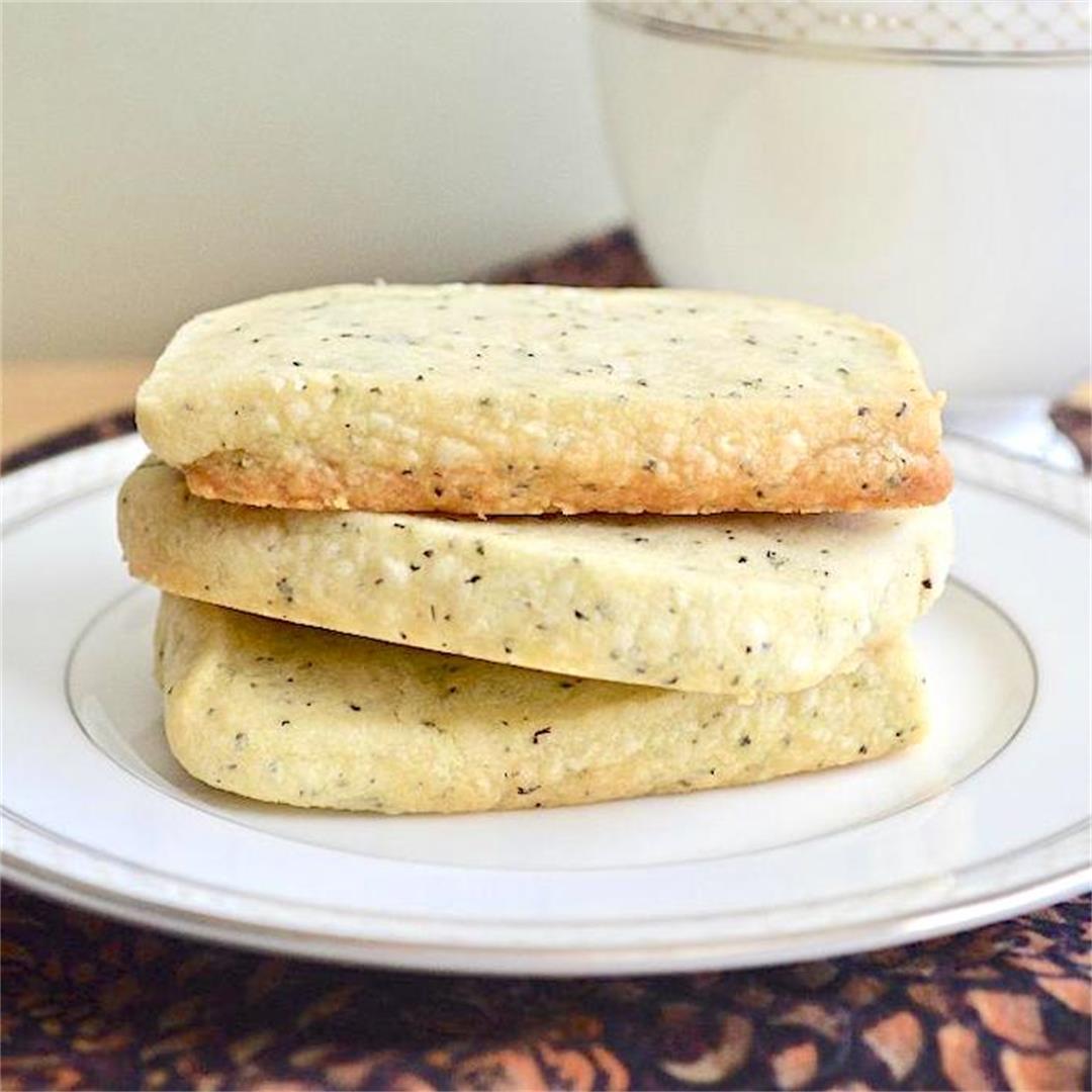 Earl Grey Shortbread Cookies - Jeanie and Lulu's Kitchen