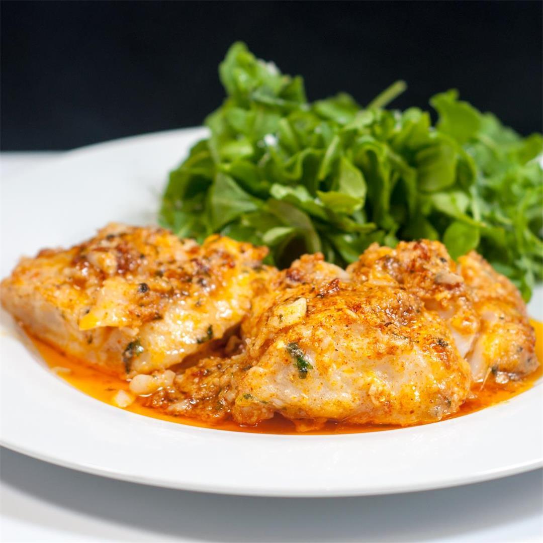 Parmesan & Paprika Haddock Baked in Garlic Butter