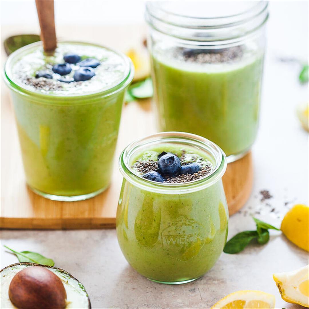 Super Green Avocado Smoothie {Vegan}