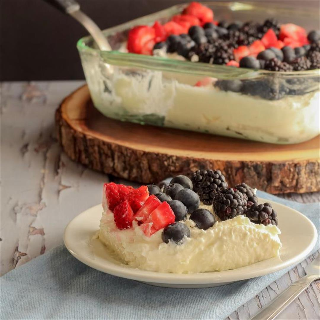 Easy Crustless No Bake Cheesecake