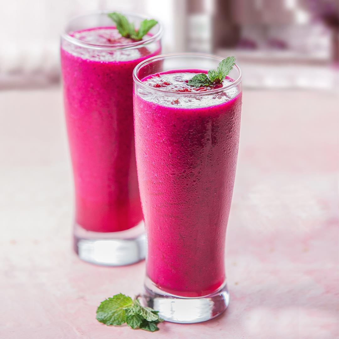 Lemon Pear Dragon Fruit Smoothies