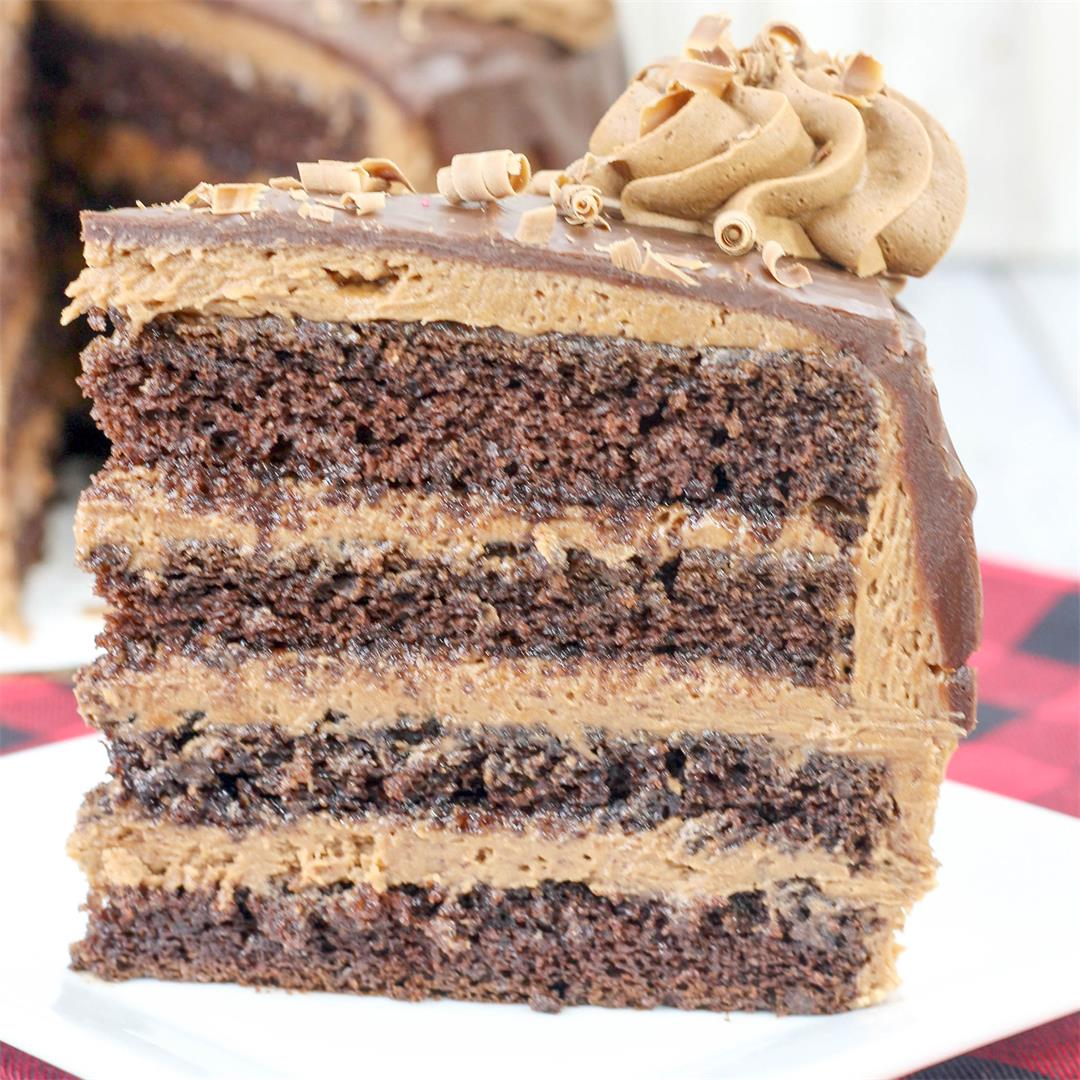 Death By Chocolate Cake With Chocolate Buttercream