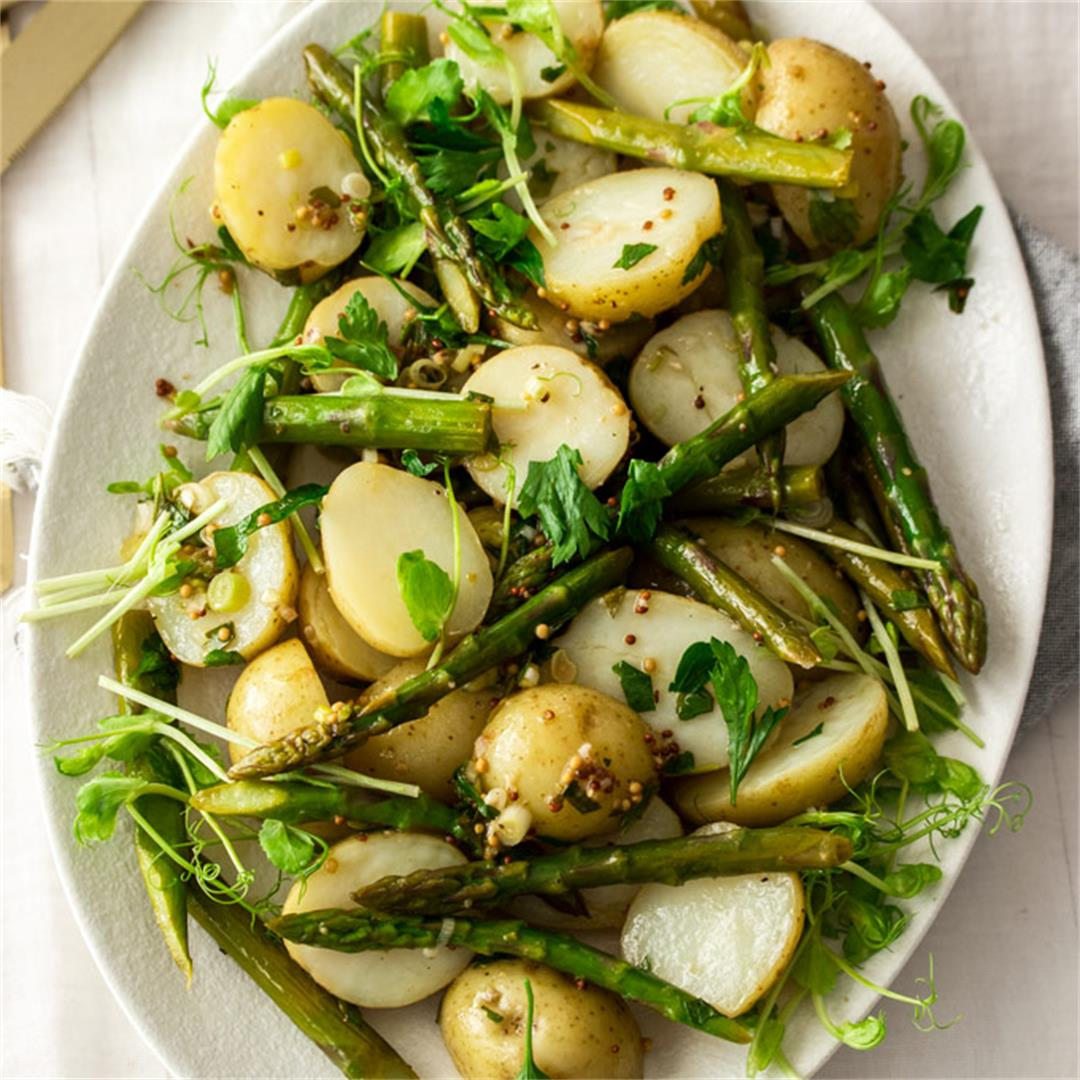 Warm Potato Asparagus Salad
