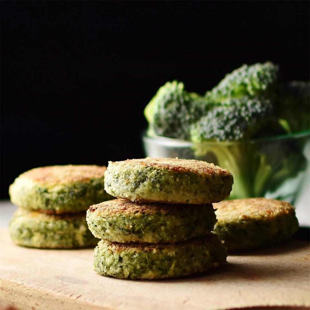Broccoli Rice Patties with Cheese