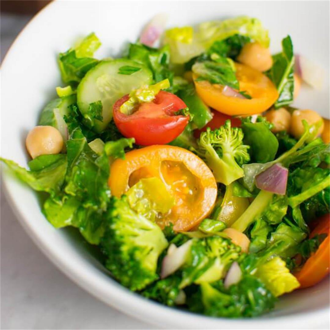 Rainbow Mediterranean Salad