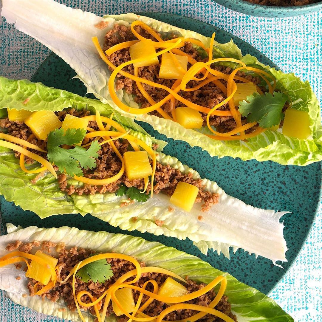 Lettuce Wraps: Vegan or with Pork