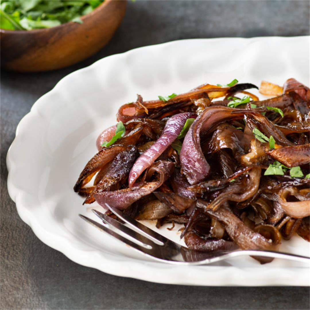 Roasted Maple Balsamic Onions