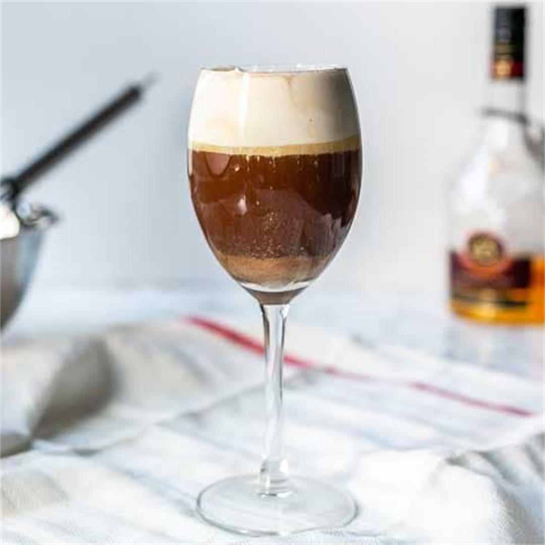 Spanish coffee with liquor