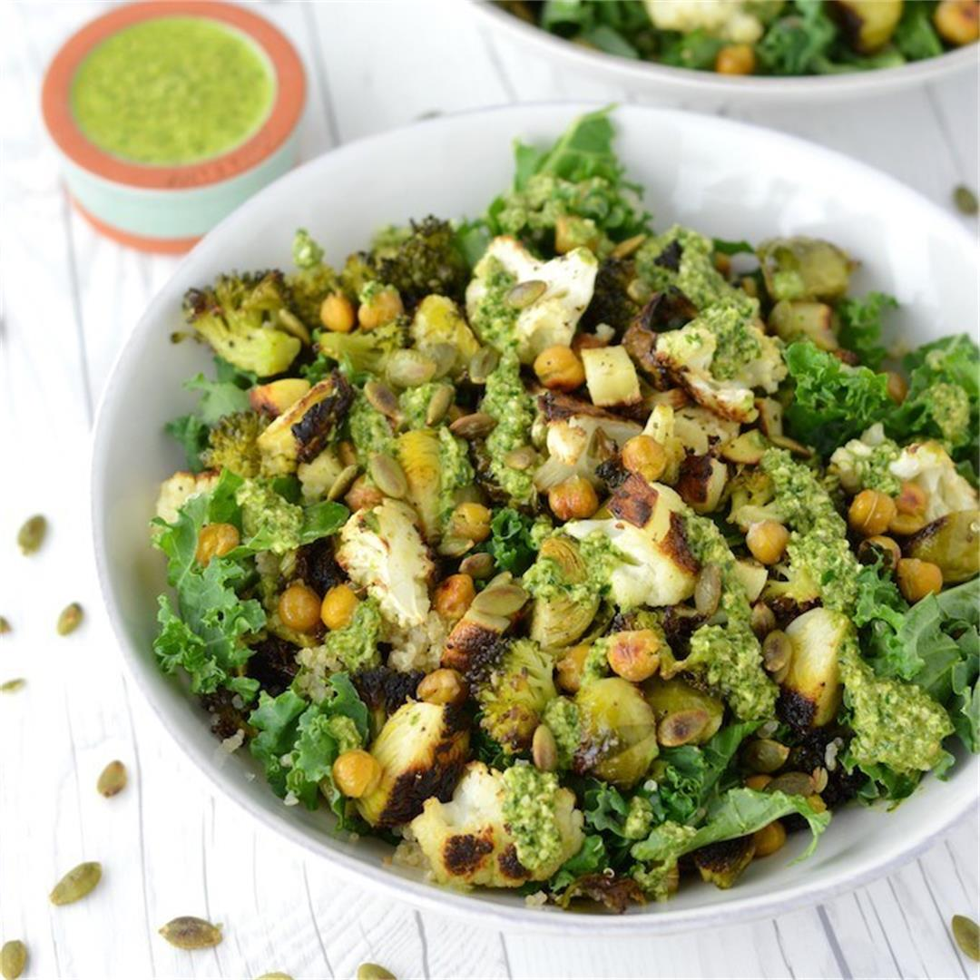 Healthy Veggie Grain Bowl Salad