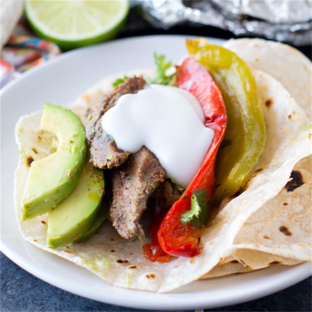 Steak Fajitas Foil Packet Dinner (Oven or Grill)